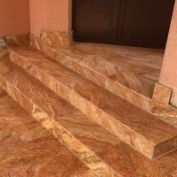 Peach Cross Cut Honed Travertine 61 x 30.5 x 1.2 cm