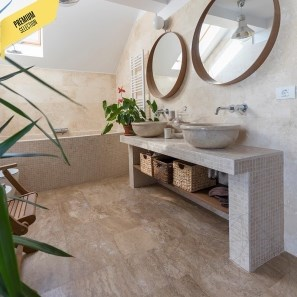 Latte Honed Travertine 30.5 x 30.5 x 1.2 cm