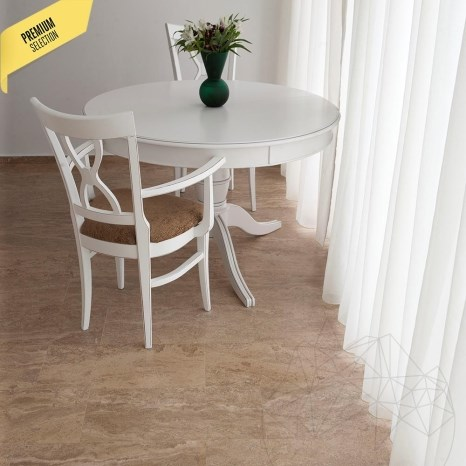 Latte Honed Travertine 61 x 30.5 x 1.2cm