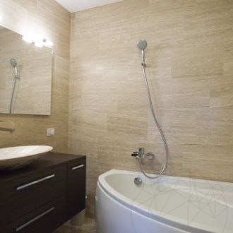 Classic Wave Cut Honed Travertine 61 x 30.5 x 1.2 cm