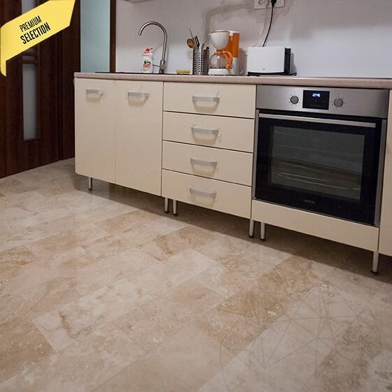 Classic Cross Cut Honed Travertine 40.6 x 20.3 x 1.2 cm