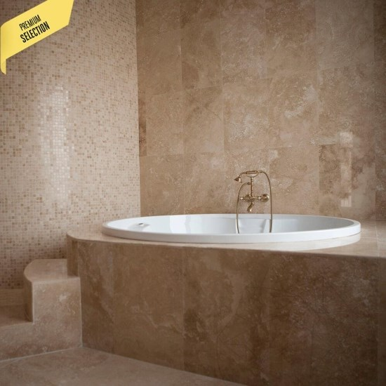 Classic Cross Cut Honed Travertine 45.7 x 30.5 x 1.2 cm
