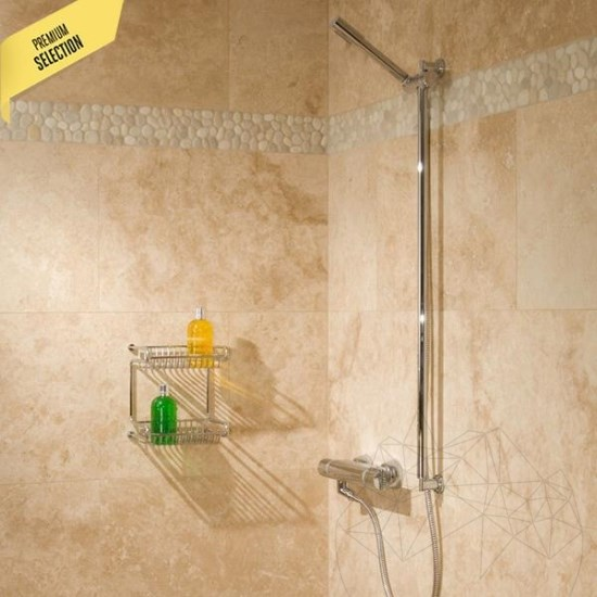 Classic Cross Cut Polished Travertine 45.7 x 30.5 x 1.2 cm