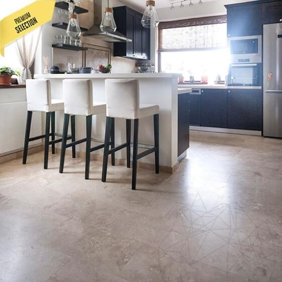 Classic Cross Cut Honed Travertine 61 x 30.5 x 1.2 cm