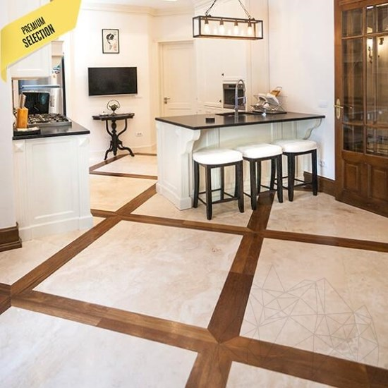 Classic Cross Cut Honed Travertine 61 x 61 x 1.2 cm