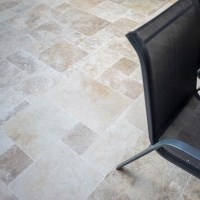 Romano Tumbled Travertine French Pattern Set 3 cm