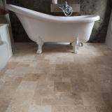 Classic Cross Cut Brushed Travertine, Mini French Pattern Set, 1 cm