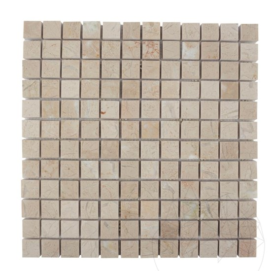 Light Beige Marble Polished Mosaic 2.3 x 2.3 cm