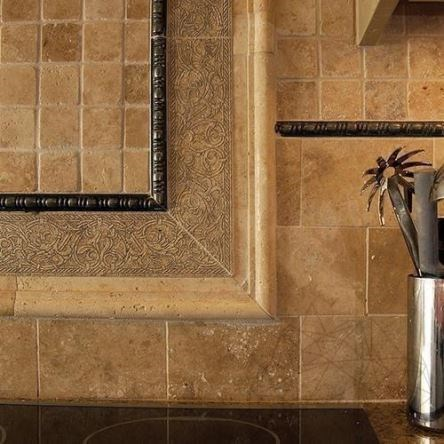Classic Travertine Polished Mosaic 4.8 x 4.8 cm