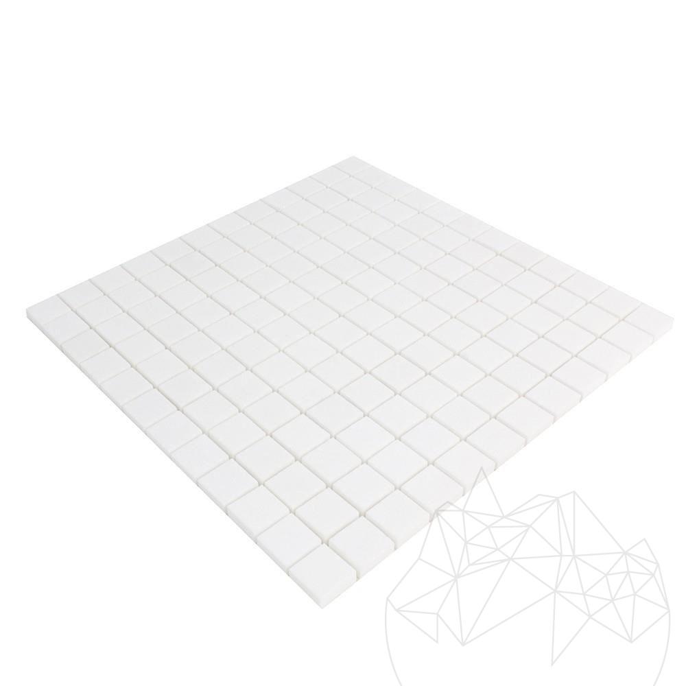Thassos Marble Polished Mosaic 2.3 x 2.3 cm title=Thassos Marble Polished Mosaic 2.3 x 2.3 cm