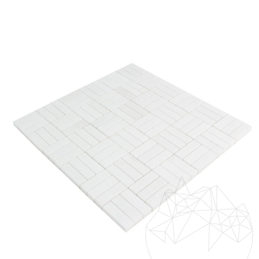 Thassos Marble Polished Tetris Mosaic