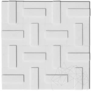 Thassos Marble Polished 3D Mosaic