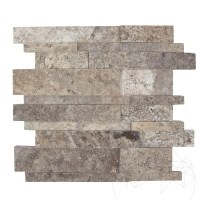 Silver Travertine Polished 3D Wall Mosaic