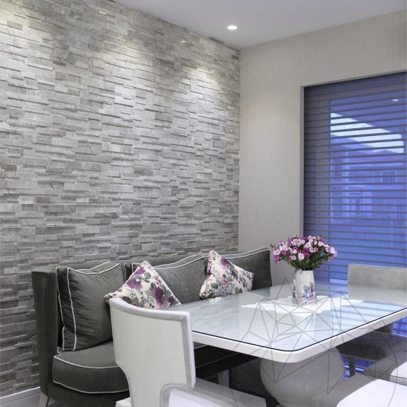 Tundra Grey Marble Polished 3D Wall Mosaic title=Tundra Grey Marble Polished 3D Wall Mosaic