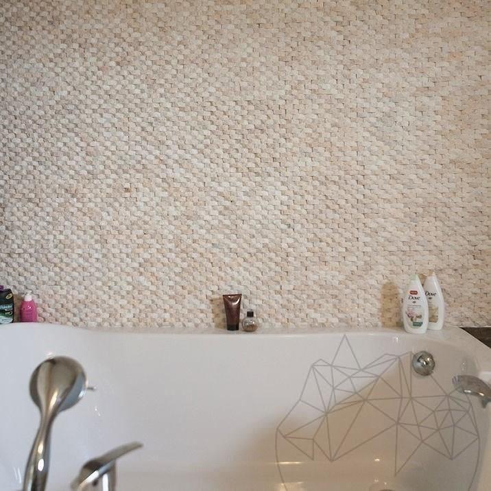 Patara Marble Splitface Mosaic 1.5 x 5 cm
