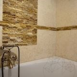 Yellow Travertine Splitface Mosaic 2.5 x 10 cm