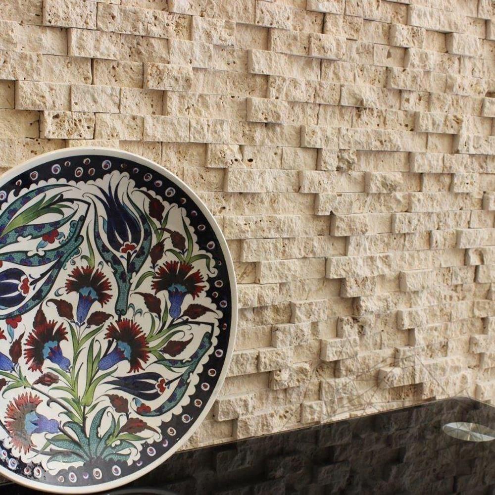 Classic Travertine Splitface Mosaic 2.5 x 5 cm title=Classic Travertine Splitface Mosaic 2.5 x 5 cm
