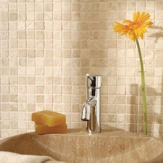 Classic Travertine Tumbled Mosaic 4.8 x 4.8 cm