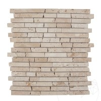 Classic Travertine Tumbled RSM11 Mosaic 1.5 cm x FL