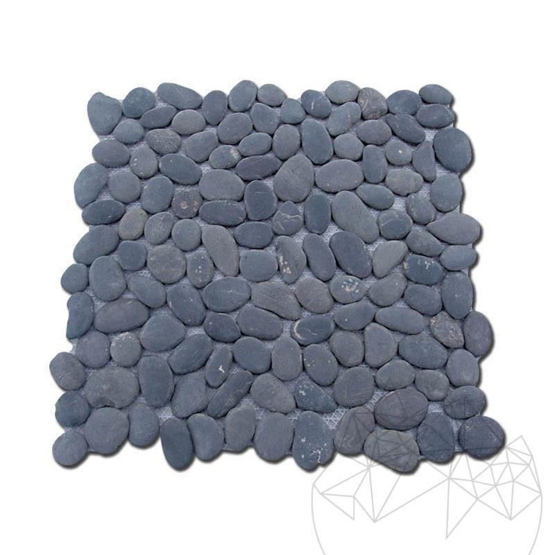 Pebble Black Honed Mosaic