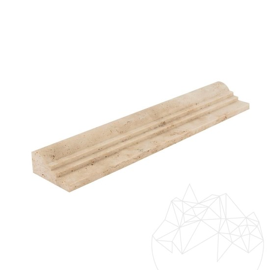 Classic Travertine M7 Moulding 6.2 x 30.5 cm