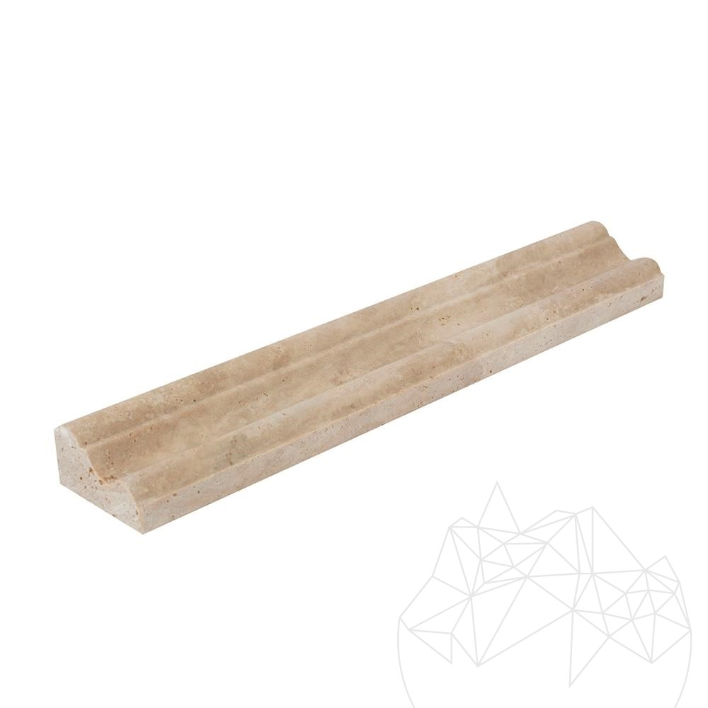 Classic Travertine M33 Moulding 5 x 30.5 cm title=Classic Travertine M33 Moulding 5 x 30.5 cm