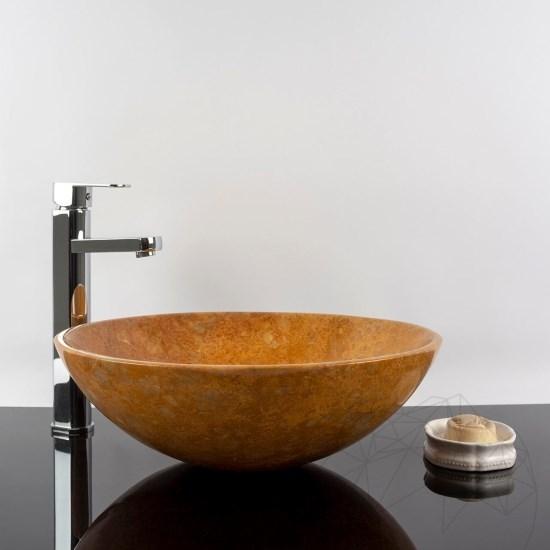 Bathroom sink Golden Yellow Marble 42 x 14 cm