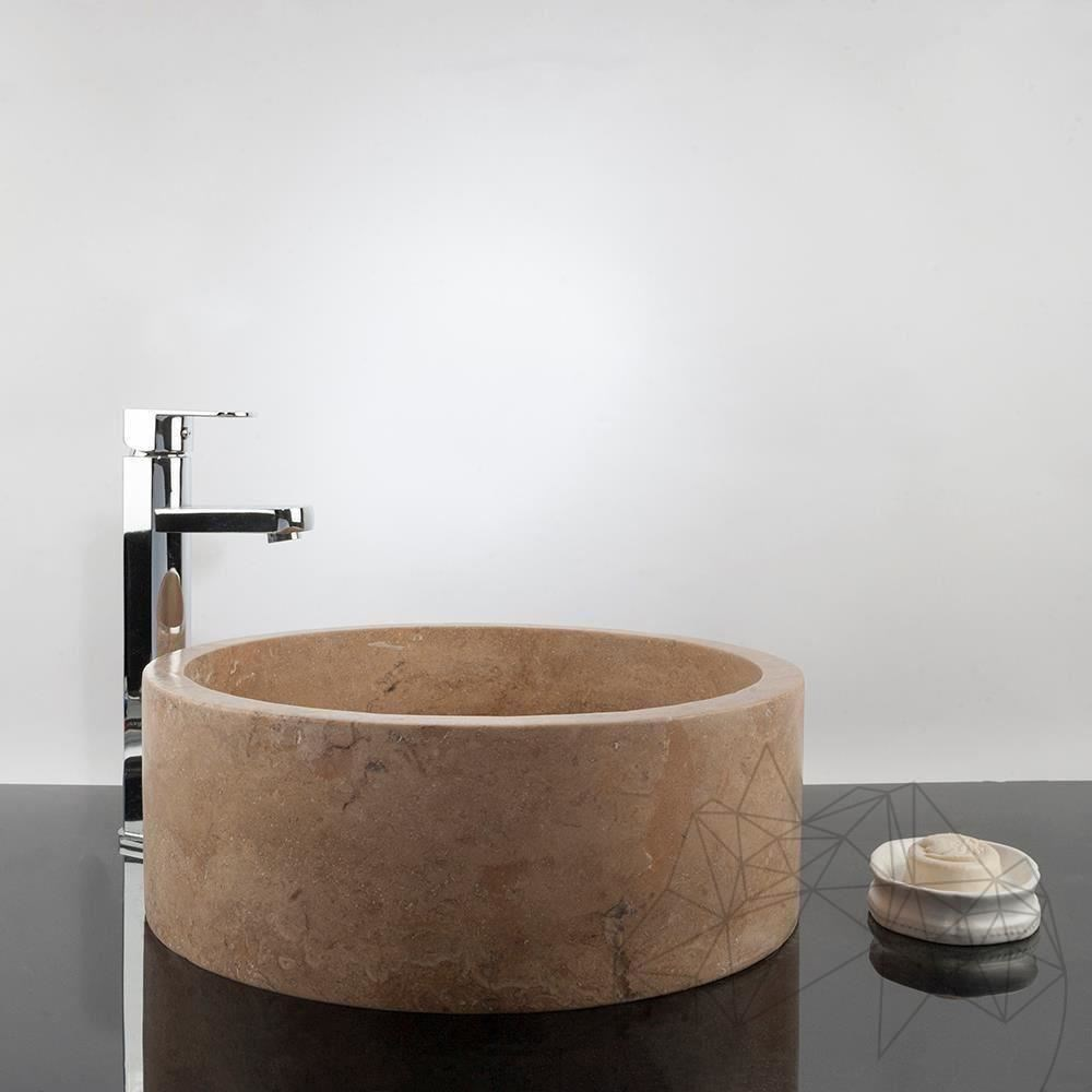 Bathroom Sink - Latte Travertine RS-22, 41.5 x 15 cm