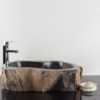 Bathroom Sink Petrified Wood,  56 x 48 x 15 cm