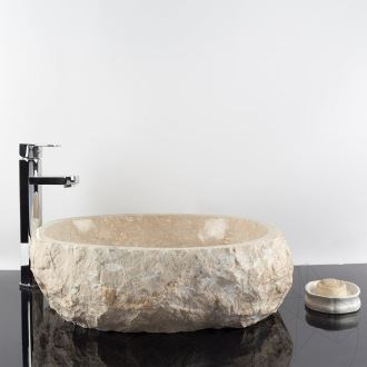 Bathroom Limestone washbasin - Cream Natura, 52 x 45 x 15 cm