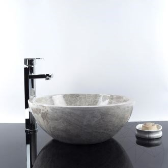 Bathroom Sink - Tundra Grey Marble RS-5, 42 x 15 cm
