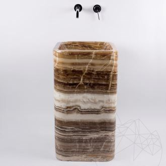 Bathroom sink - Autograph Dark Onyx Marble 45 x 82 cm