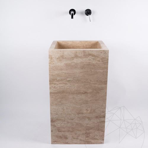 Bathroom sink - Autograph Classic Vein Cut Travertine 45 x 82 cm