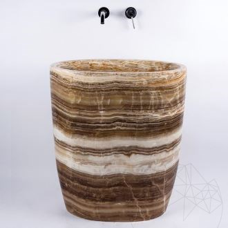 Bathroom sink - Autograph Honey Onyx 40 x 70 x 82 cm
