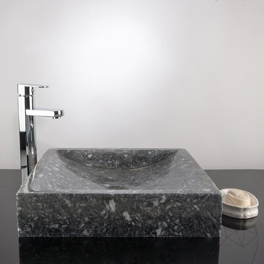 Bathroom Sink - King Blue Marble, 40 x 45 x 10 cm title=Bathroom Sink - King Blue Marble, 40 x 45 x 10 cm