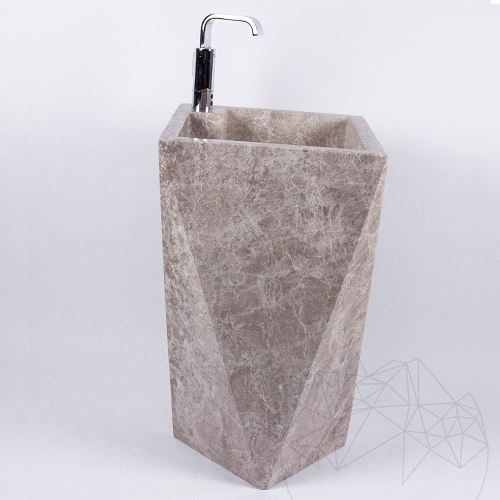 Bathroom sink - Signature Tundra Grey Marble 45 x 82 cm