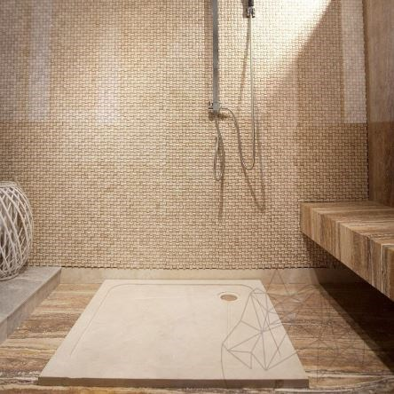 Shower Tray - Classic Travertine ST-012 SBSS - 90 x 90 cm x 3 cm