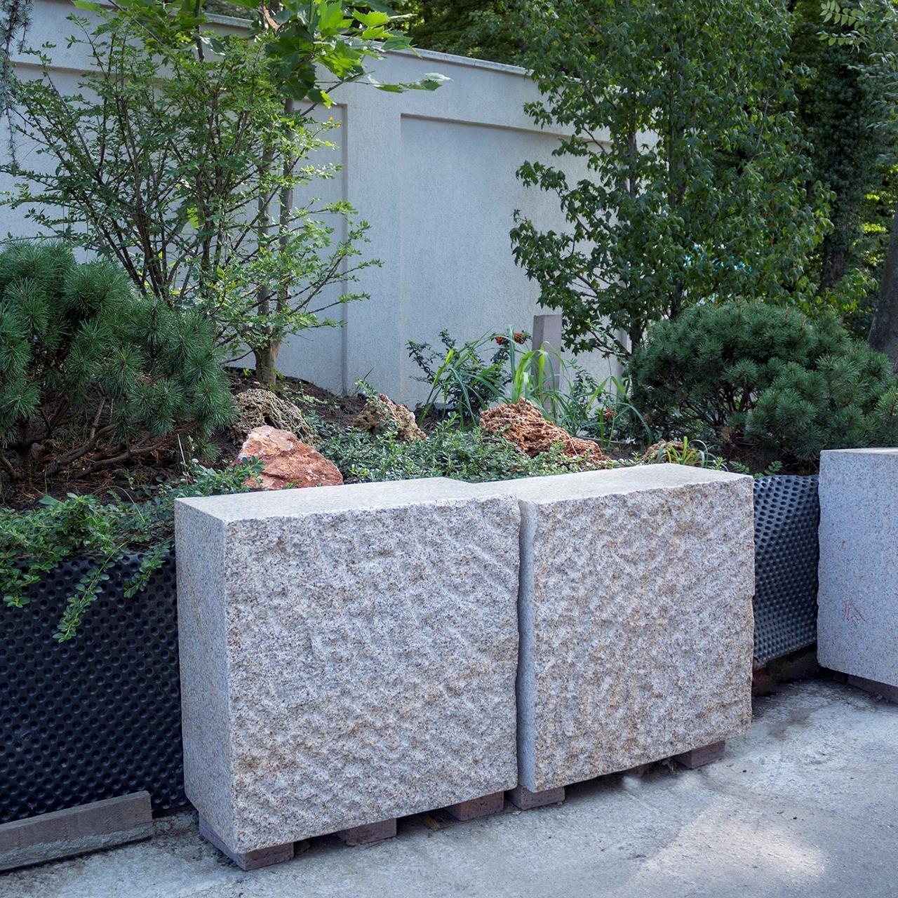 Padang Yellow Granite Garden Bench (60 x 60 x 30 cm)