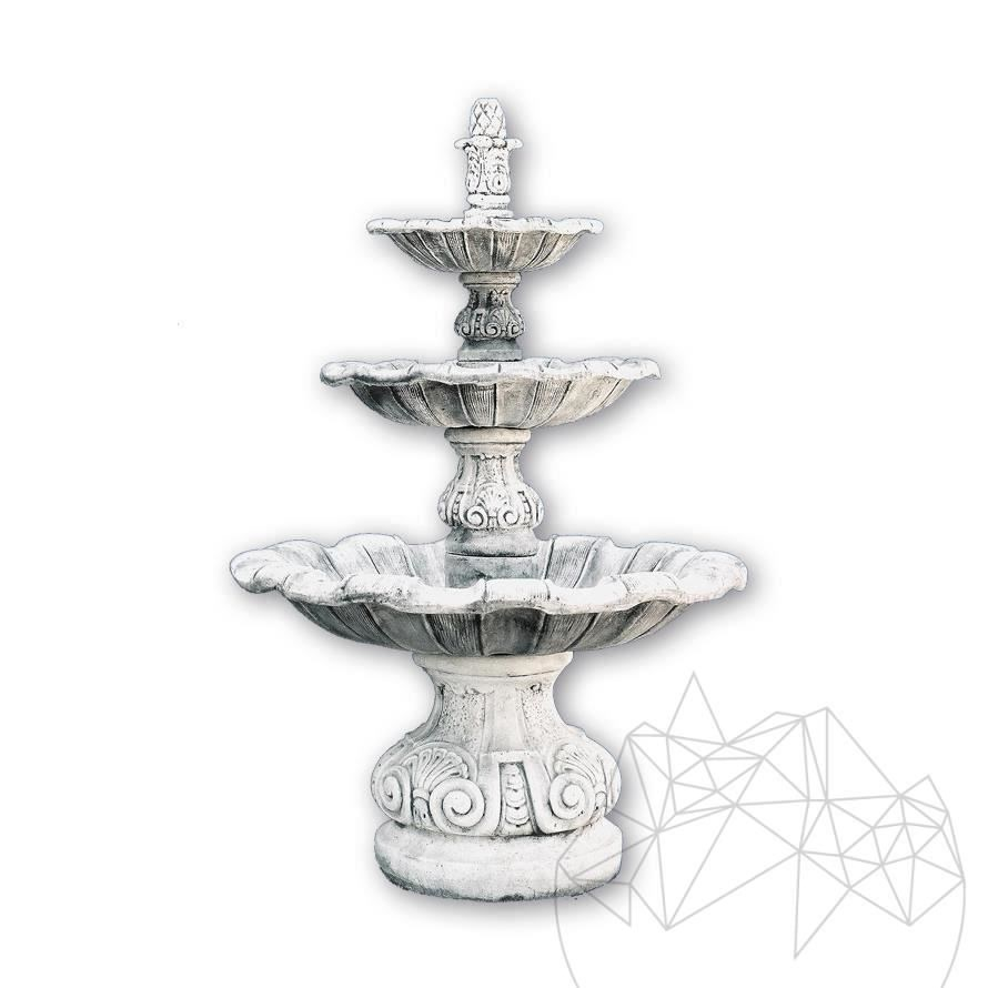 Fontana Briona F 18 - Garden Water Fountain - White finishing
