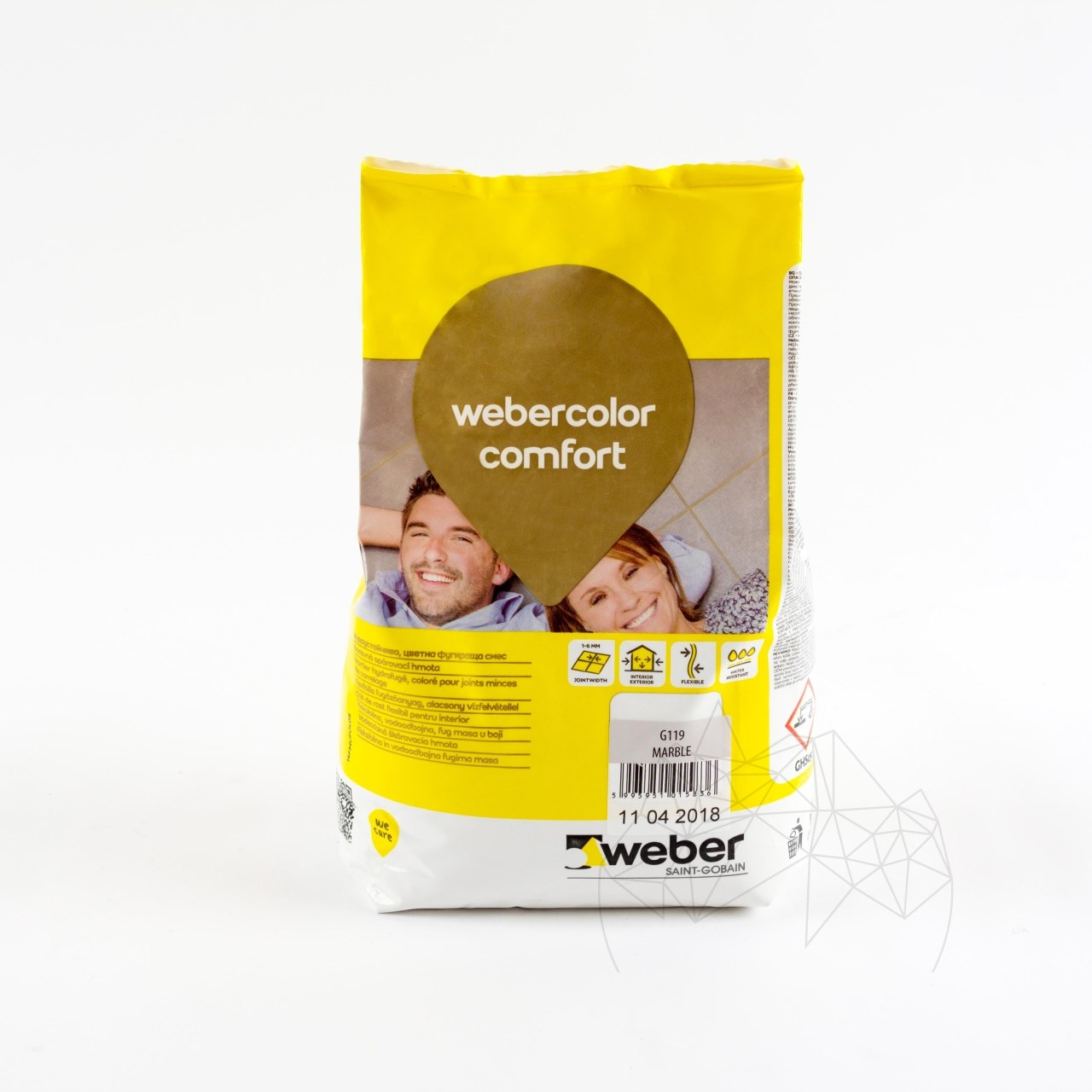Weber Color Perfect Almond 5 KG - Flexible wall & floor grout