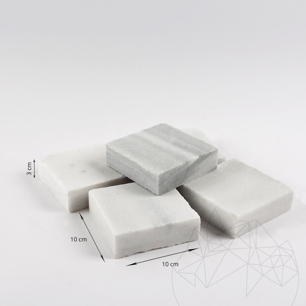 Kavala Marble Sawn Cut Cobblestone 10 x 10 x 3 cm title=Kavala Marble Sawn Cut Cobblestone 10 x 10 x 3 cm