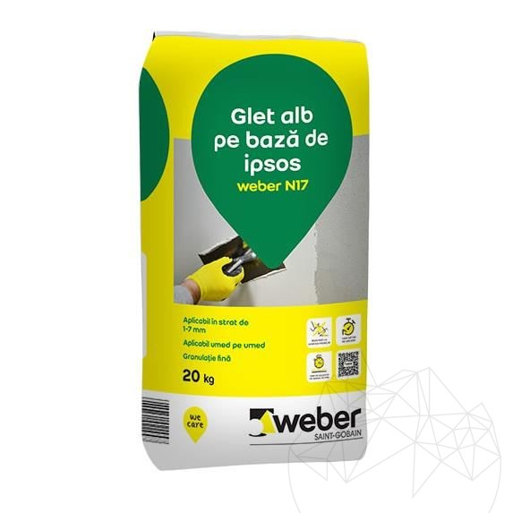 Weber N17 20 KG - White cement based plaster equalizing