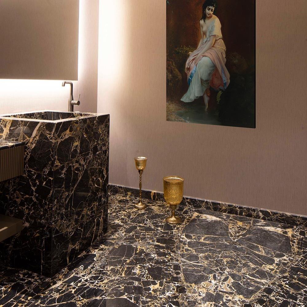 Portoro Gold Polished Marble 60 x 60 x 1.5 cm title=Portoro Gold Polished Marble 60 x 60 x 1.5 cm