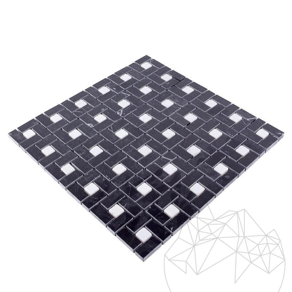Black & White Marble Polished Mosaic