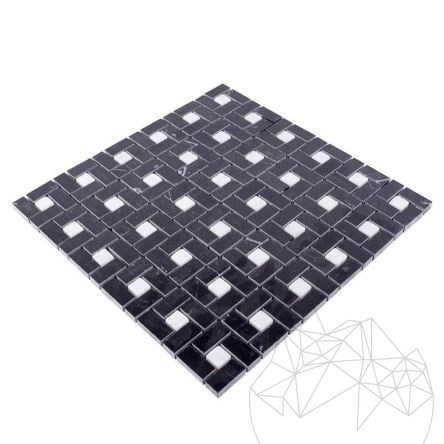 Black & White Marble Polished Mosaic