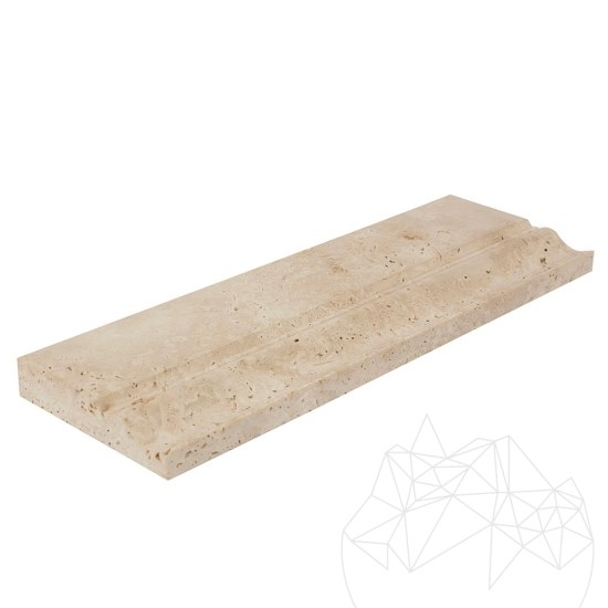 Classic Travertine M10 Moulding 10 x 30.5 x 2 cm