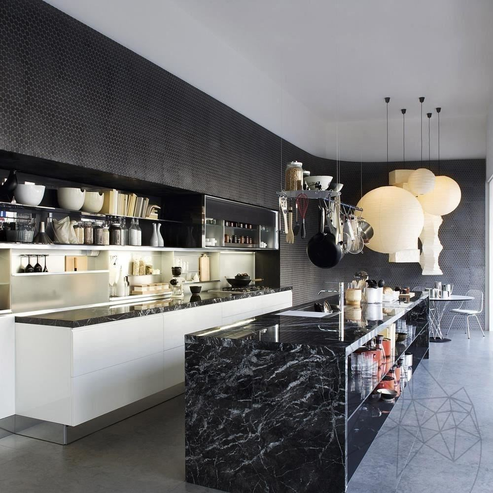 Nero Marquina Marble Polished Countertop 250 x 65 x 3 cm