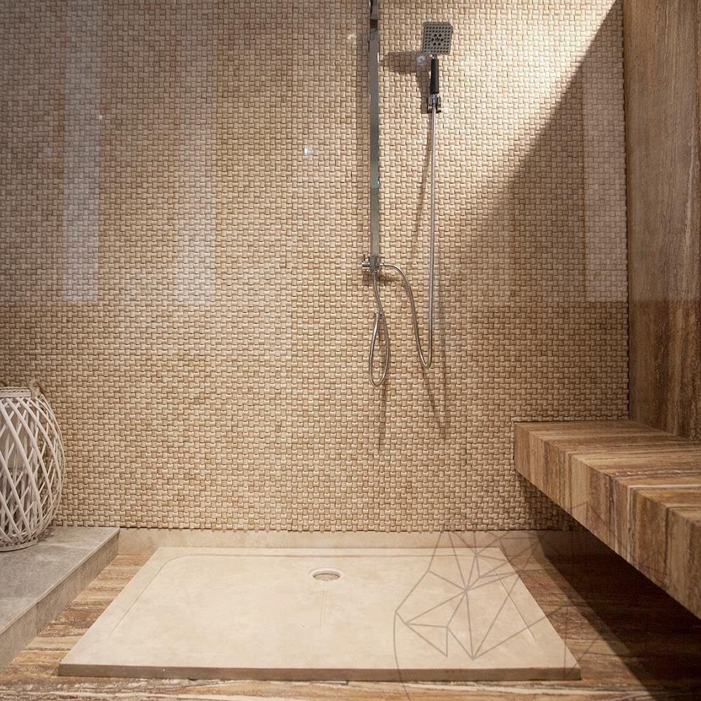 Shower Tray - Classic Travertine ST-010 SBSS - 120 x 80 x 3 cm