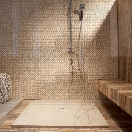 Shower Tray - Classic Travertine ST-010 SBSS - 120 x 80 x 3 cm