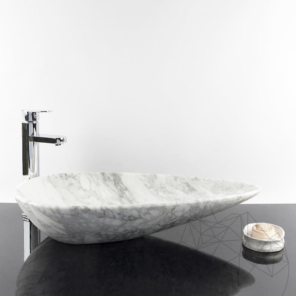 Bathroom Sink - Calacatta Marble SP-24, 64 x 33 x 13 cm